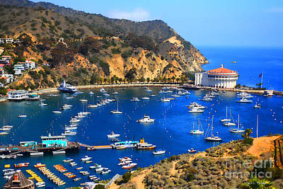 Avalon Harbor Print by Cheryl Young