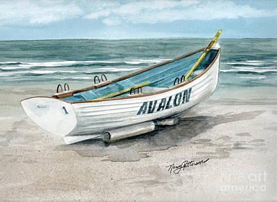 Avalon Lifeguard Boat  Original by Nancy Patterson