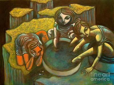 Greed Painting - Avaritia by Paul Hilario