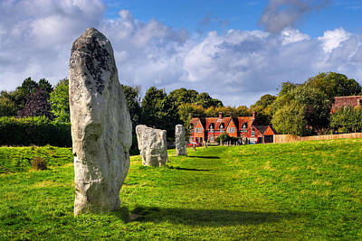 Ancient Photograph - Avebury Village Amidst An Ancient Stone Circle by Mark E Tisdale