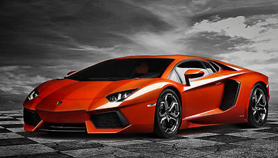 Aventador Print by Peter Chilelli
