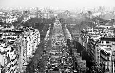 Avenue Des Champs-elysees Print by John Rizzuto