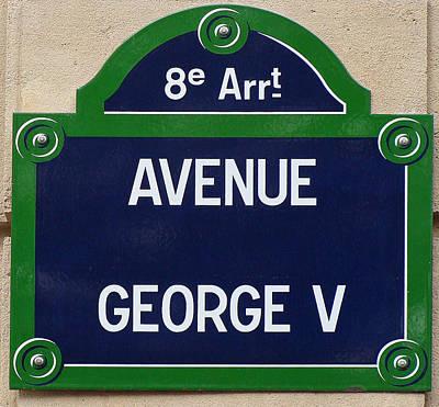 Avenue George Le Cinq  Print by Ira Shander