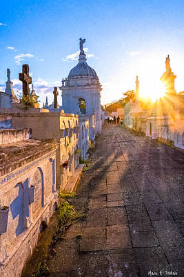 Religious Angel Art Photograph - Avenue Of Tombs - Granada by Mark E Tisdale