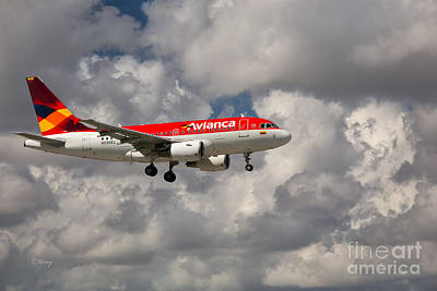 319 Photograph - Avianca Airbus A-318 by Rene Triay Photography