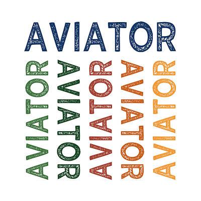 Aviator Cute Colorful Print by Flo Karp