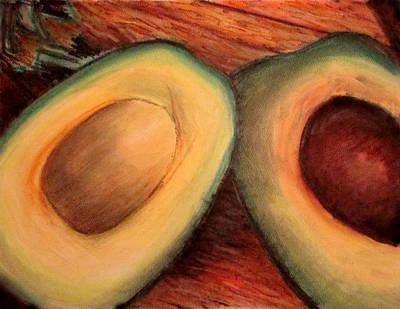 Avacados Pastel - Avocado In Pastel by Denny Morreale