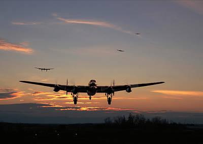 Avro Lancaster - Dawn Return Print by Pat Speirs