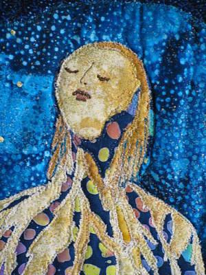 Fantasy Tapestries - Textiles Tapestry - Textile - Awakening Detail by Lynda K Boardman