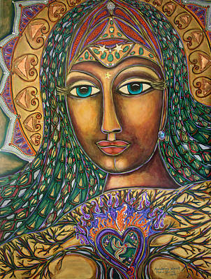 Visionary Art Painting - Awakening Heart by Marie Howell Gallery