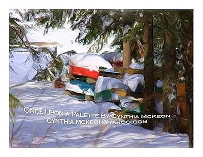Snow Piles Painting - Away For The Winter by Once Upon a Palette