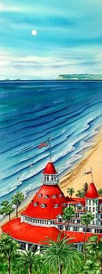 Hotel Del Coronado Painting - Awesome View by John YATO