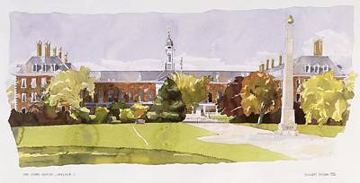 Garden Scene Drawing - The Royal Hospital  Chelsea by Annabel Wilson
