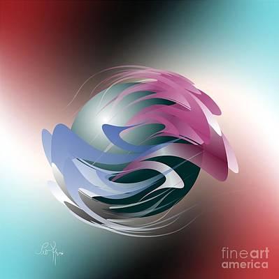 Axial Rotation Print by Leo Symon