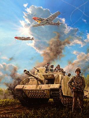 Nazi Painting - Axis Front 1944 by Dan Nance