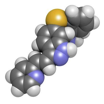 Oncology Photograph - Axitinib Cancer Drug Molecule by Molekuul