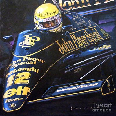 Racing Legend Painting - Ayrton Senna Lotus 98t1986 01 by Yuriy Shevchuk