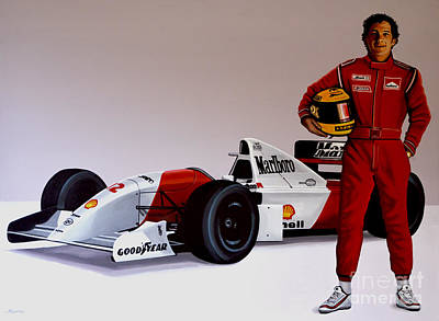 Ayrton Senna Print by Paul Meijering