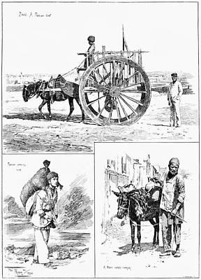 Wine Cart Painting - Azerbaijan Baku, 1890 by Granger