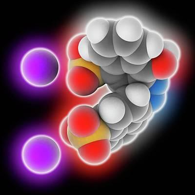 3.14 Photograph - Azorubine Food Dye Molecule by Laguna Design