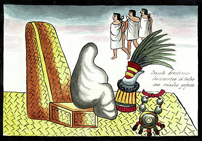 Aztec Burial Ritual Print by Library Of Congress