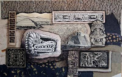 Pyramid Mixed Media - Aztec Images by Candy Mayer
