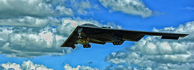 Of Indiana Photograph - B-2 Spirit Coming In For A Landing by Mountain Dreams