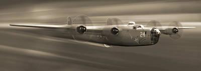 B - 24 Liberator Legend Panoramic Print by Mike McGlothlen