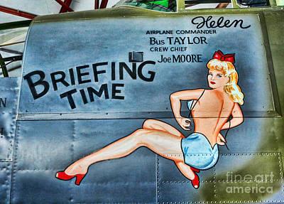 Pin Up Nose Art Photograph - B-25 Bomber Pin Up Girl by Lee Dos Santos