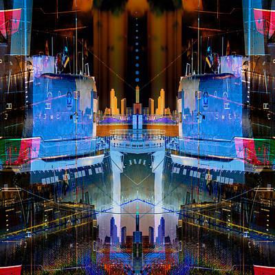 Soviets Digital Art - B-427 Late Night Dock by Wendy J St Christopher