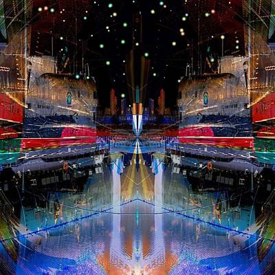 Soviets Digital Art - B-427 Midnight Maneuvers by Wendy J St Christopher
