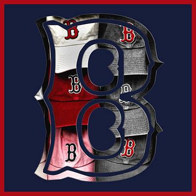 Boston Red Sox Photograph - B For Bosox - Boston Red Sox by Joann Vitali
