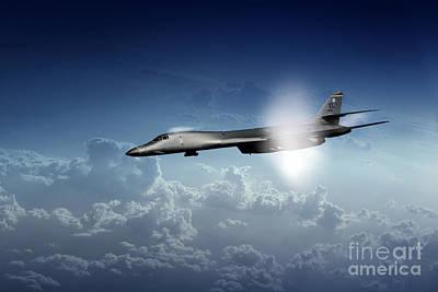 Lancer Digital Art - B1 Supersonic by J Biggadike