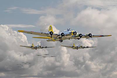Usaf Digital Art - B17 486th Bomb Group by Pat Speirs