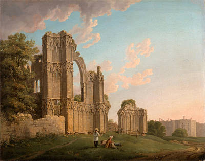 St Mary's Abbey Print by Michael Angelo Rooker