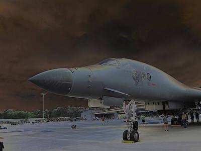 B1b Digital Art - B1b Bomber by Michael Genova