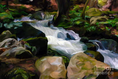Babbling Brook Painting - Babbling Brook - Open Edition  by Kathryn L Novak