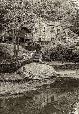 Stone Buildings Photograph - Babcock Sepia  by Steve Harrington