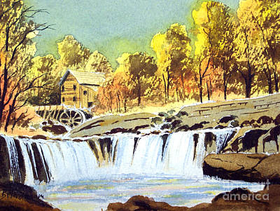 Water Mills Painting - Babcock State Park West Virginia by Bill Holkham