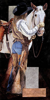 Cowgirl Mixed Media - Babe by JK Dooley