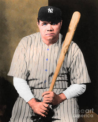Babe Ruth Digital Art - Babe Ruth 20141220 V1 by Wingsdomain Art and Photography