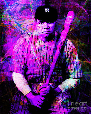 Babe Ruth 20141220 V2 M93 Print by Wingsdomain Art and Photography