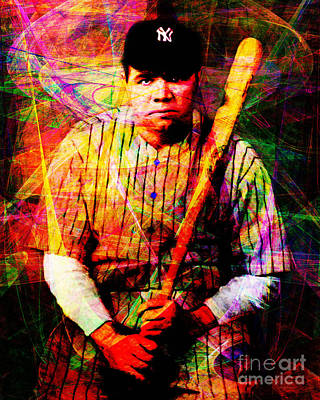 Babe Ruth Digital Art - Babe Ruth 20141220 V2 by Wingsdomain Art and Photography