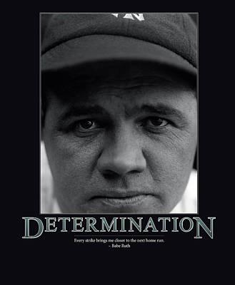 Ruth Photograph - Babe Ruth Determination  by Retro Images Archive