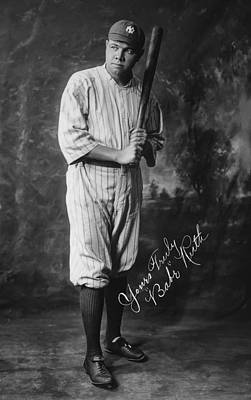 Babe Ruth Photograph - Babe 'the Sultan Of Swat' Ruth  1920 by Daniel Hagerman
