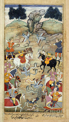 Sangha Photograph - Babhruvahana Fights The Nagas by British Library