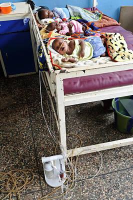 Babies In Hospital Print by Matthew Oldfield
