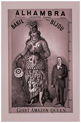 First Lady Mixed Media - Babil And Bijou - Giant Amazon Queen by Maciej Froncisz