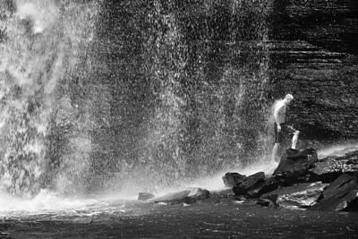 Man Photograph - Babtism By Rain by Skip Hunt