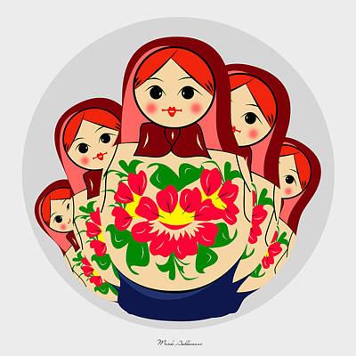 Babushka Digital Art - Babushka by Mark Ashkenazi